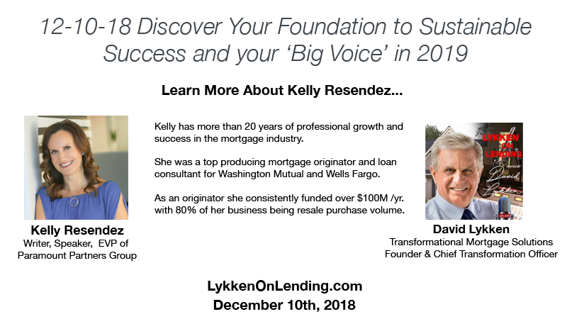 12-10-18 Discover Your Foundation to Sustainable Success and Your 'Big Voice' in 2019