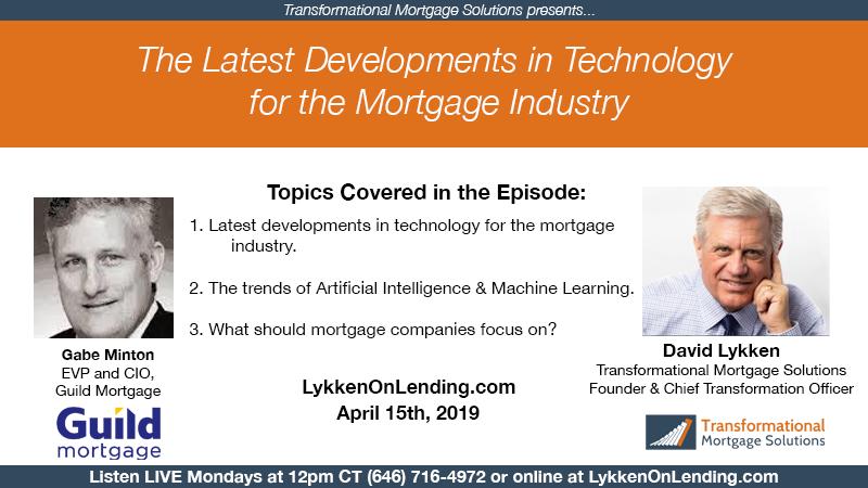 Lykken on Lending: 4-15-19 Latest Developments in Technology